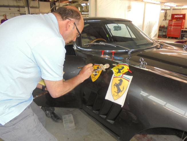traditional Signwriting in Essex, Hertfordshire, Cambridgeshire and London - Kevin busy at work